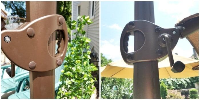 easy to use cantilever umbrella for patio