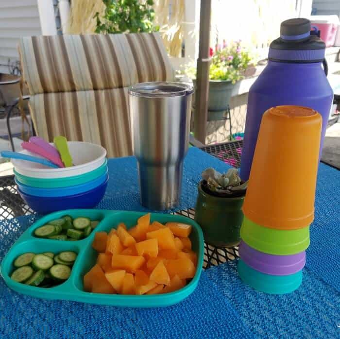 how to stay cool on your patio snacks