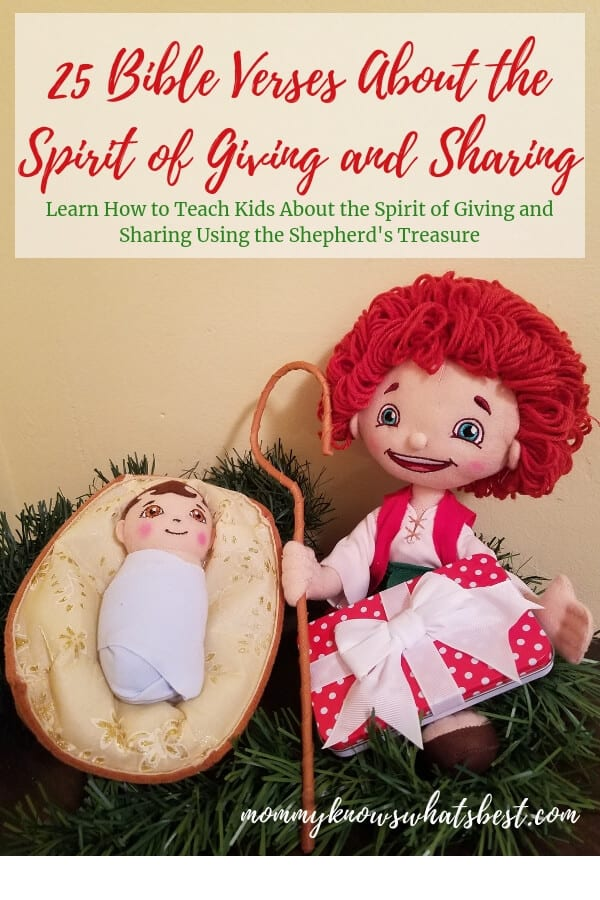 Ideas for The Shepherd's Treasure: 25 Bible Verses About the Spirit of Giving and Sharing to teach about the true meaning of Christmas.
