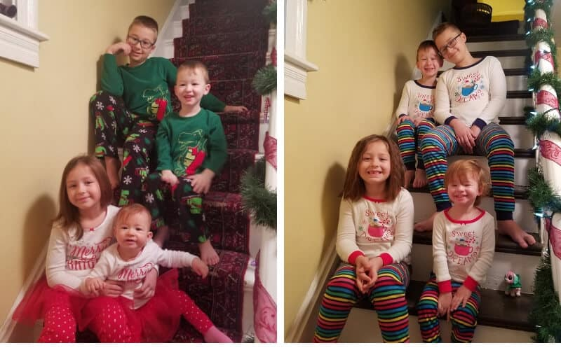 Christmas Morning Hacks for Moms_ Matching Christmas Pajamas Photo