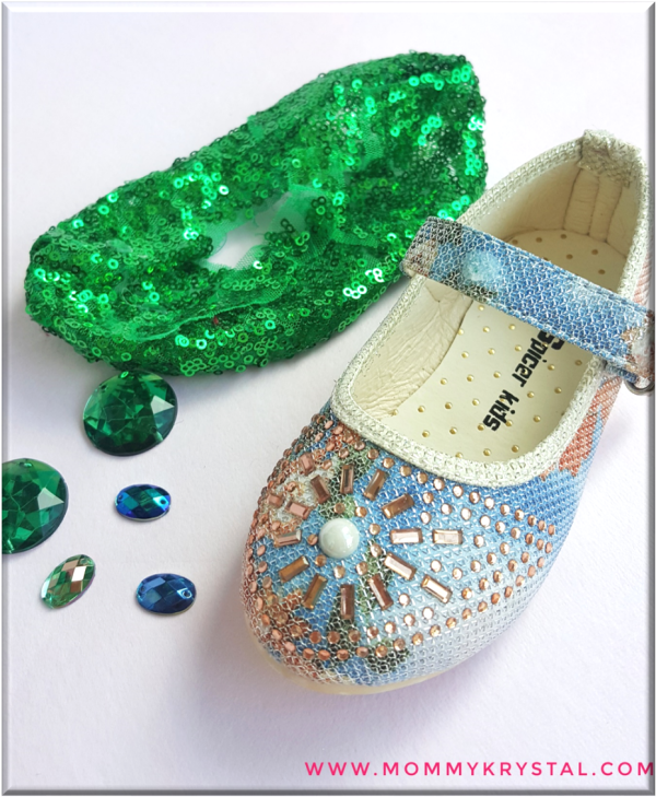 little mermaid shoes diy mommy krystal rhinestone green sequins