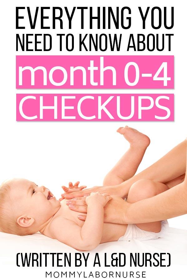 newborn checkup schedule pinterest pin