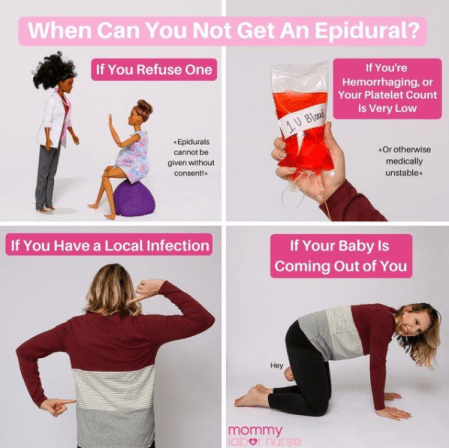 when you cannot get an epidural infographic