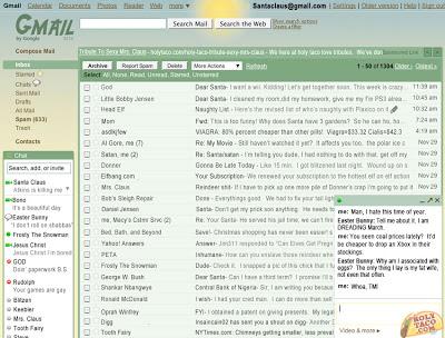 Let's take a peek at Santa's Gmail Account