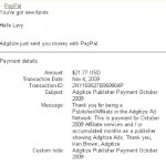 Proof of Payment from Adgitize