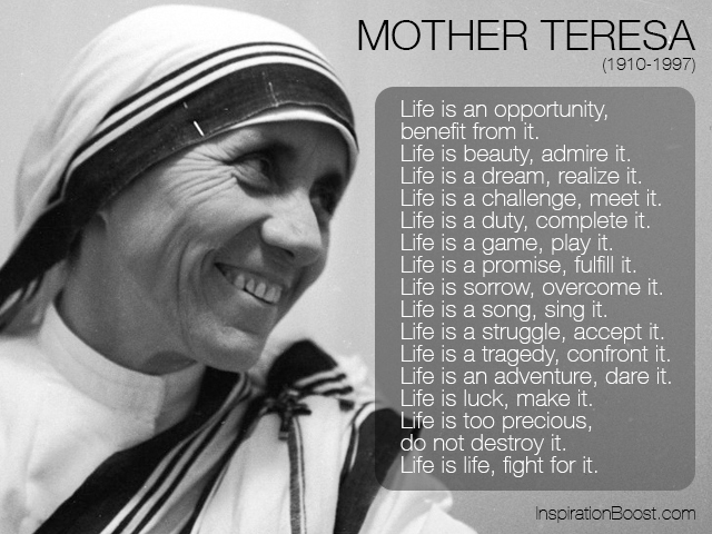 Holy Monday: Inspirational Quotes From Mother Teresa