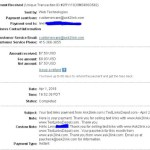 Proof of Payment from Ask2Link (March 2010)