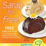 FREE Cake Roll Slice at Goldilocks!
