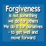 Forgiving someone = inner peace!