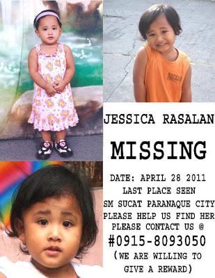 PUBLIC ANNOUNCEMENT: Help find Jessica Rasalan!