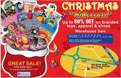 Christmas Bazaar Schedule 2011