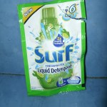My new found partner in washing dirty clothes- Surf Liquid Detergent!