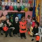 My son dresses as a cool pumpkin this Halloween!