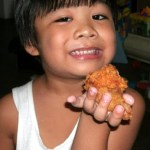 This boy loves the new Jollibee Crispy Chicken Wings!