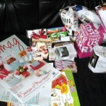 Used magazine or newspaper for gift wrapping!