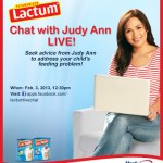 I will have a video chat with Judy Ann Santos on Sunday!