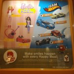 McDonald's Happy Meal 2015: Barbie and Hotwheels PLUS HAPPY the fun character