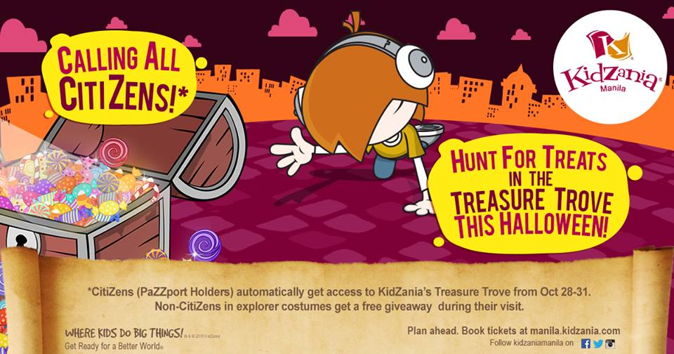 KidZania Manila celebrates Halloween with Treasure Trove Hunt