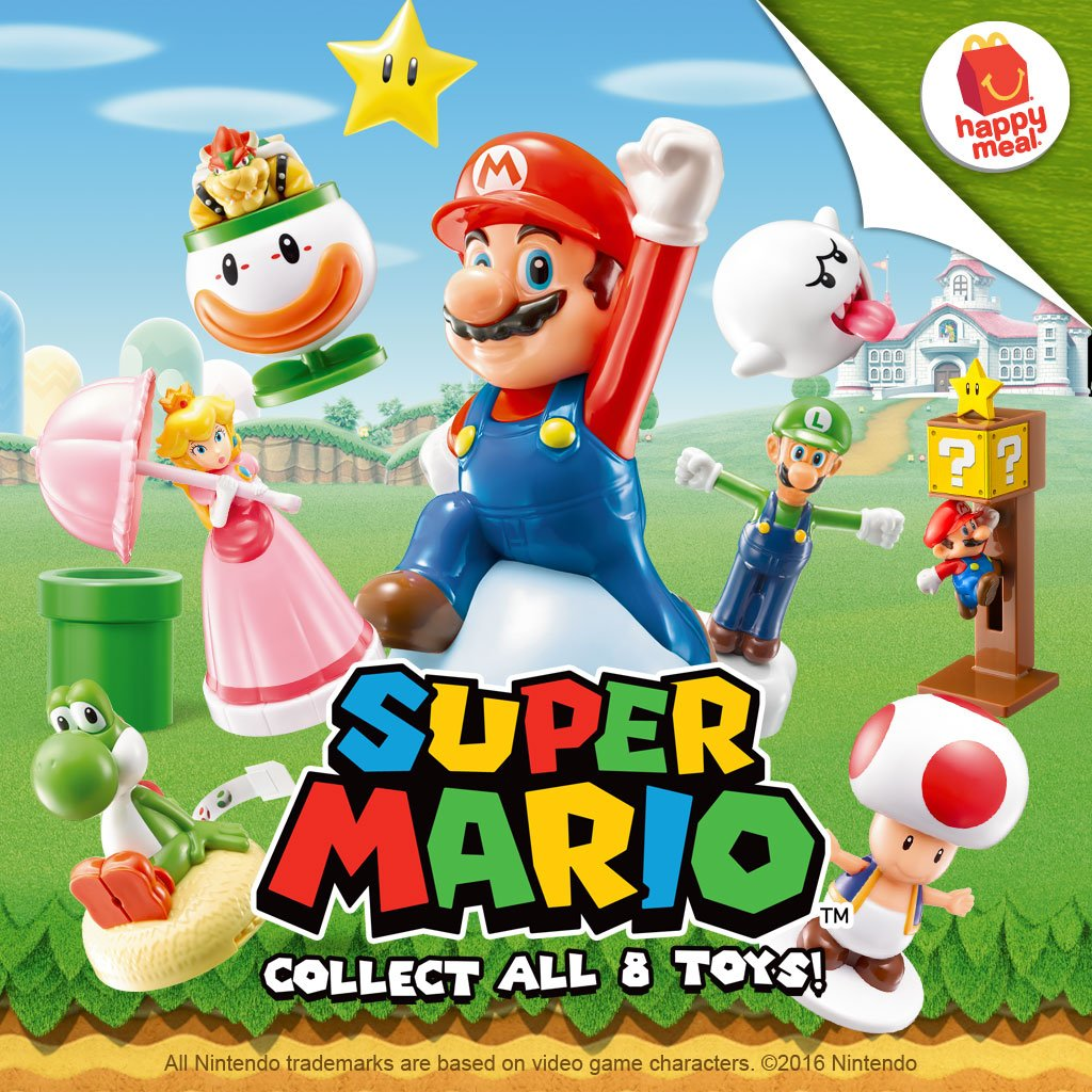 McDonald's Happy Meal: Super Mario Toys 2016
