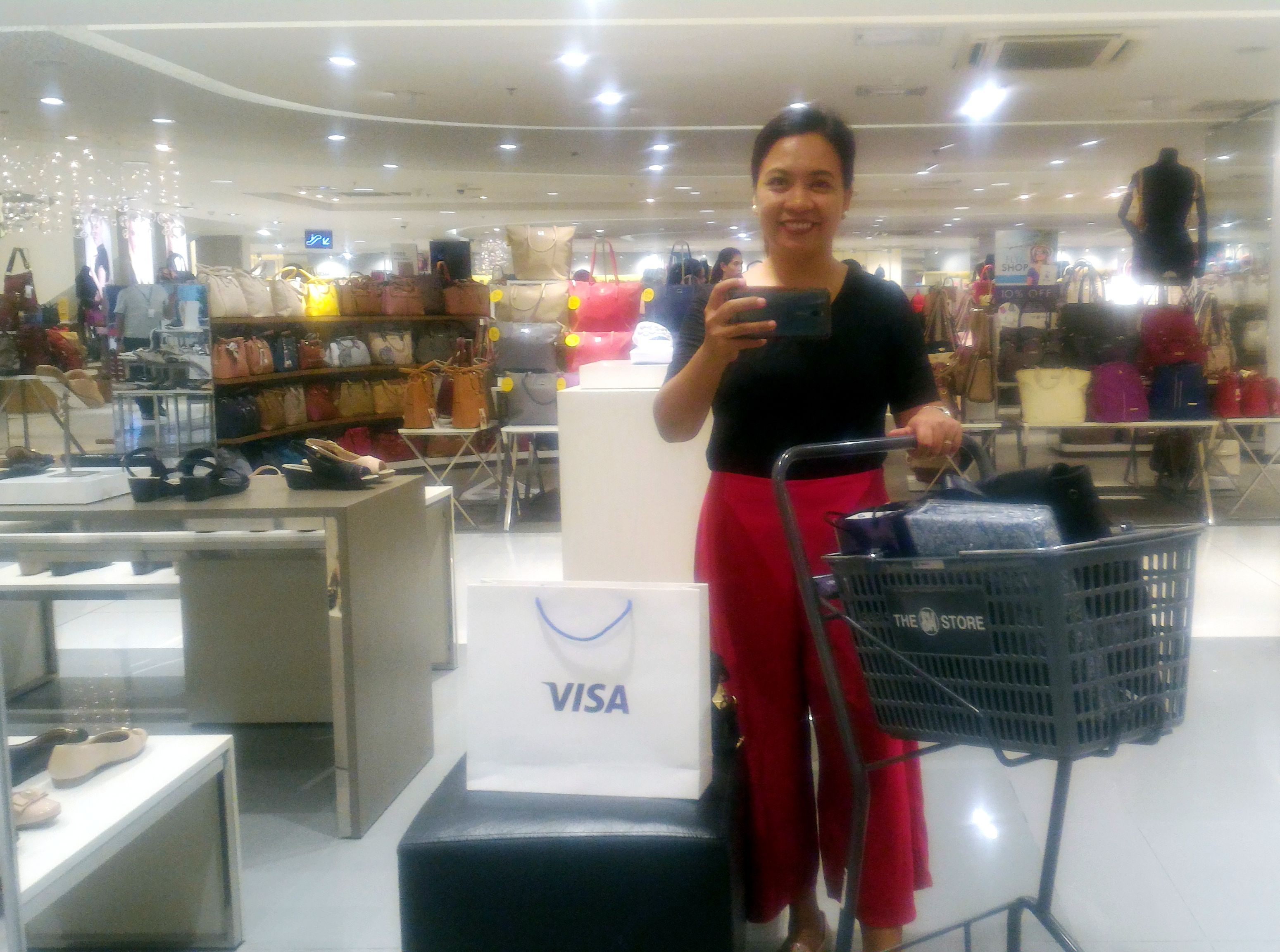 Shop at SM using VISA Contactless Card