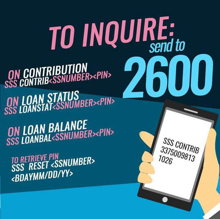 SSS Text Inquiry: Get Status of your Contributions and Loan via SMS