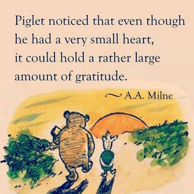 A.A. Milne Gratitude