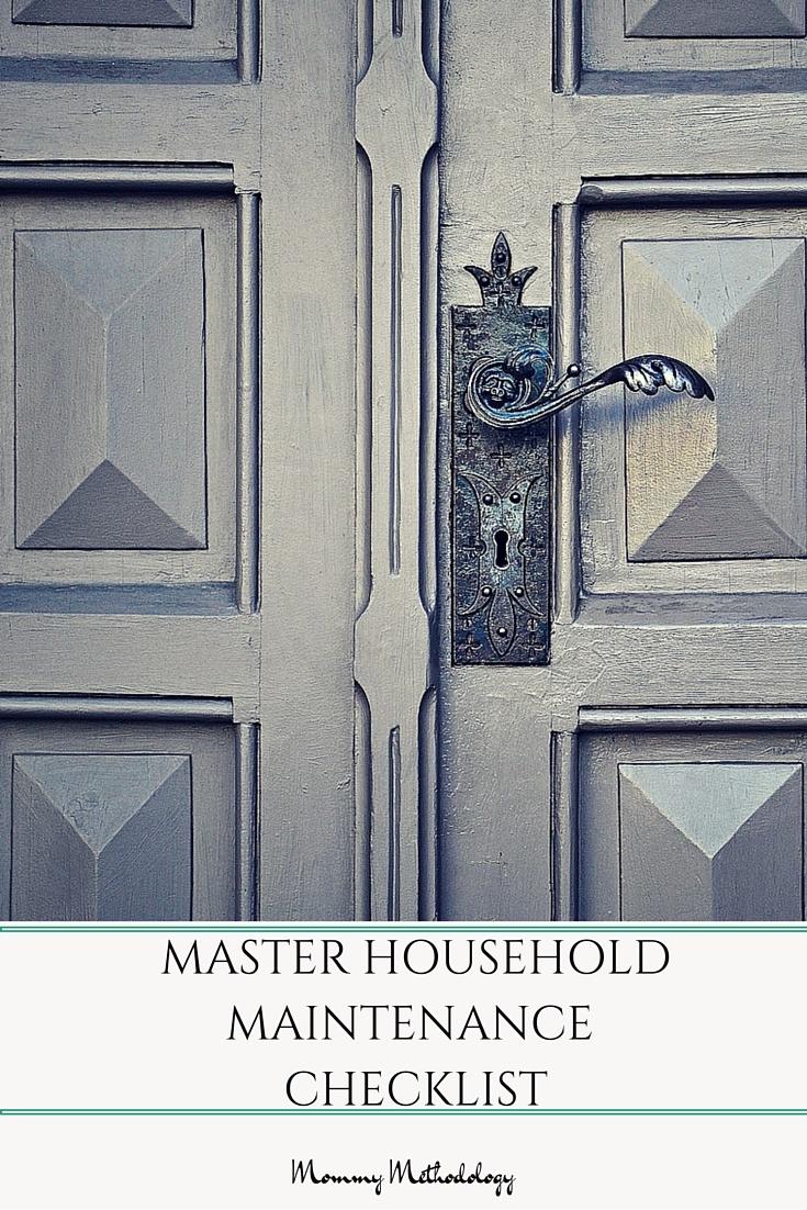 household maintenance checklist