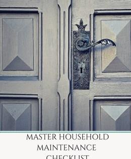 Master Household Maintenance Checklist
