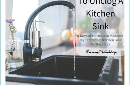 Day 12 Method: Kitchen Sink