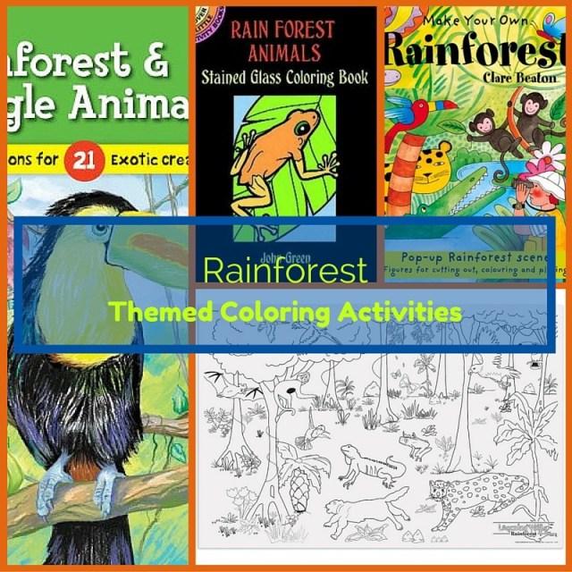 Rainforest Treasure - Scavenger Hunt - themed coloring activities