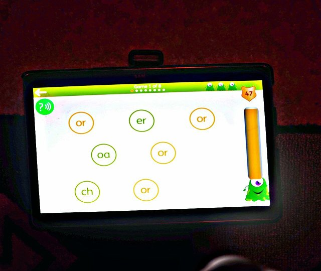 Reading app uses repetition to learn phonics