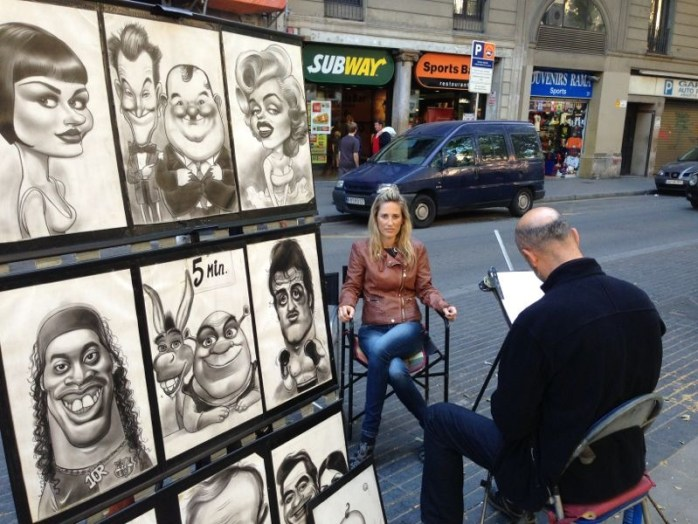 Yes, I got my caricature drawing!