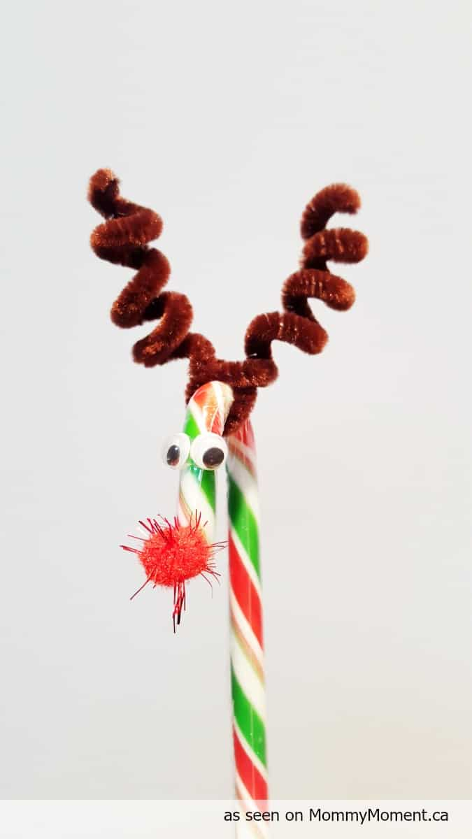 Candy Cane Reindeer Craft Mommy Moment