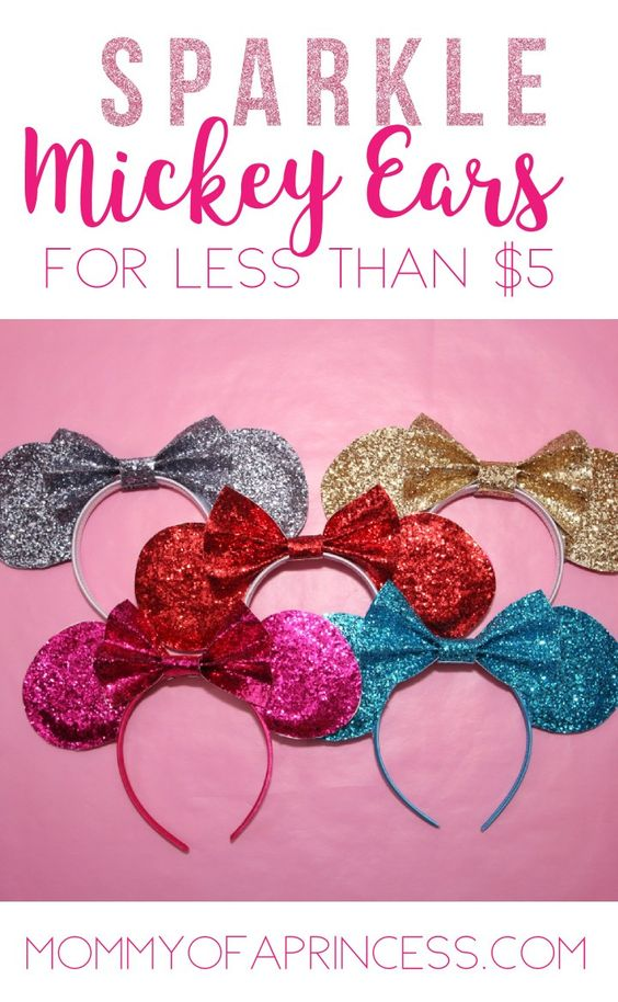 How to make sparkly Mickey Ears