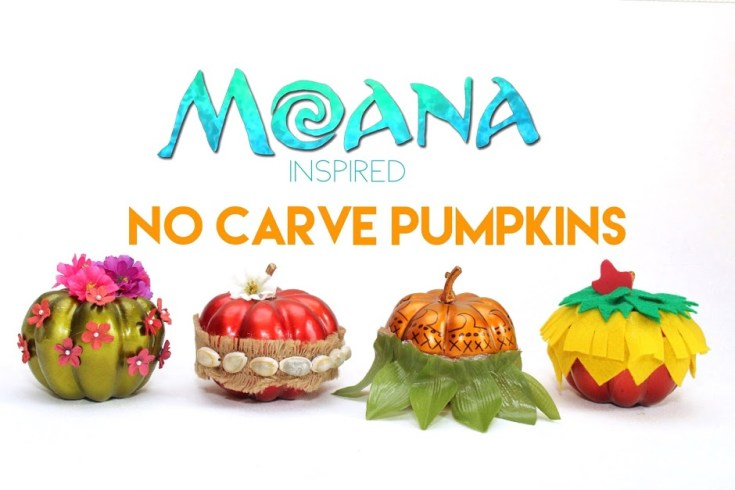 Moana No Carve Pumpkins