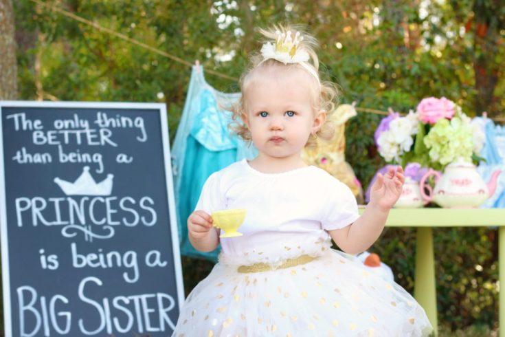Big Sister Pregnancy Announcement Ideas Princess Tea Party