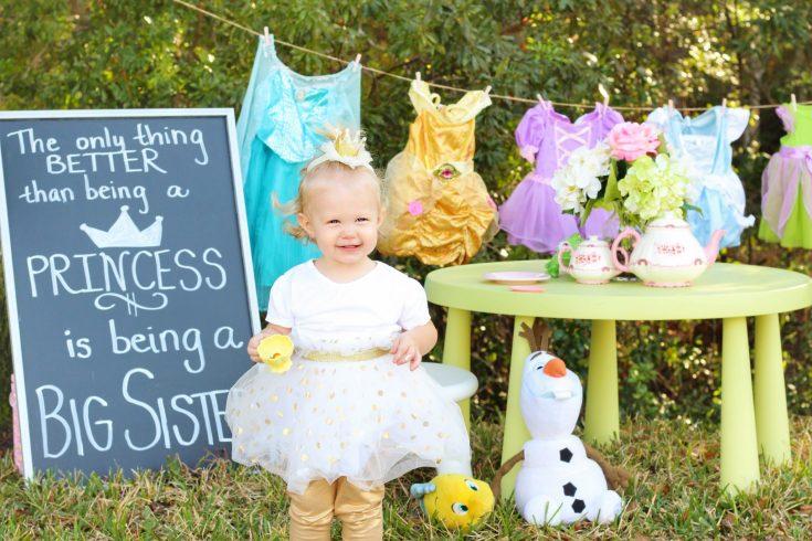 Big Sister Better than a Princess Pregnancy Announcement
