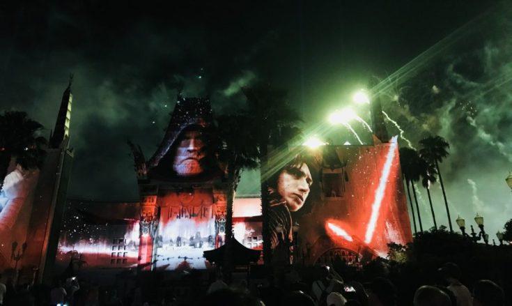 Star Wars Fireworks show