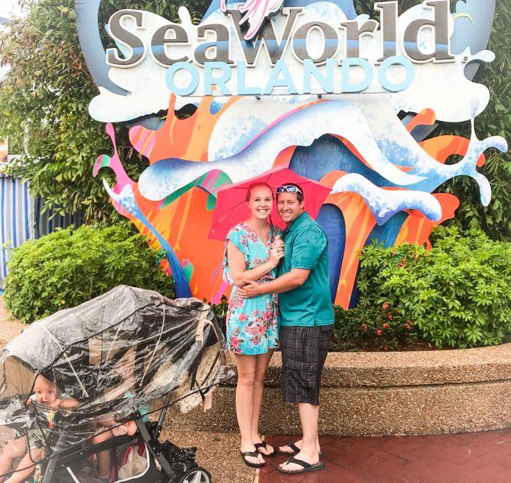 Rain at SeaWorld Orlando