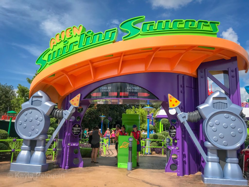 Alien Swirling Saucers at Toy Story Disney World