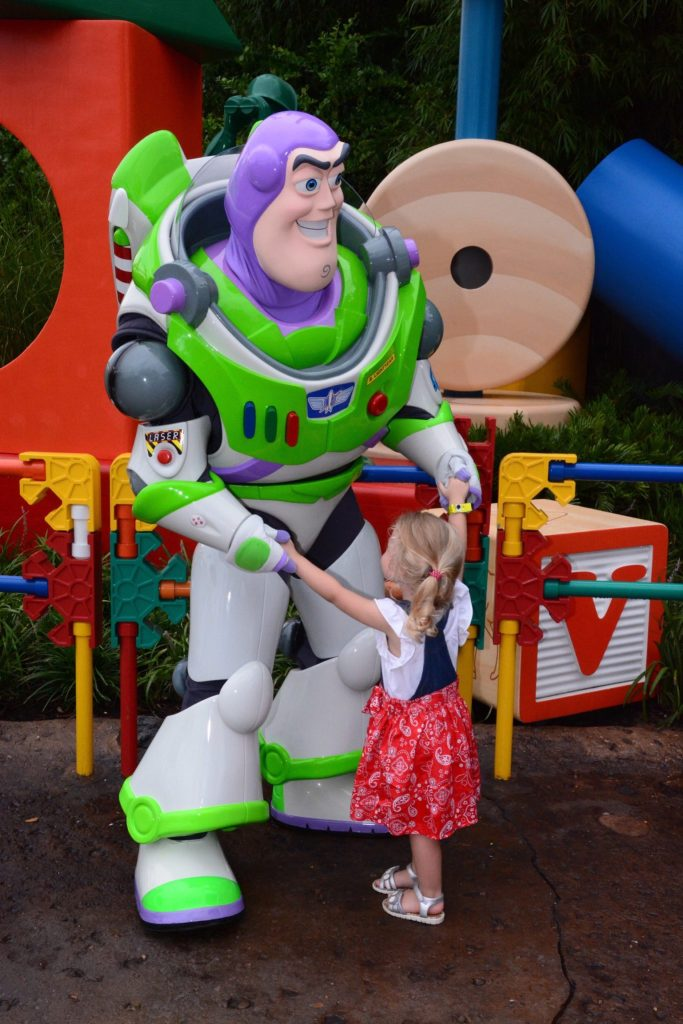 Toy Story Land Meeting Buzz Lightyear