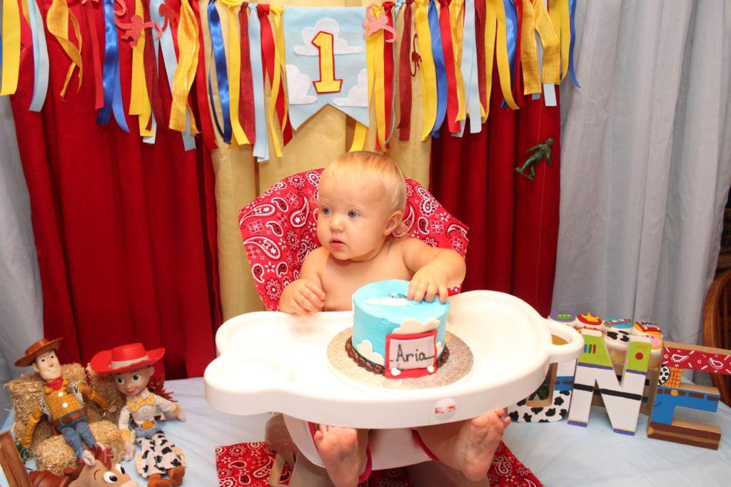Toy Story 1st Birthday Party Ideas & Cake Smash
