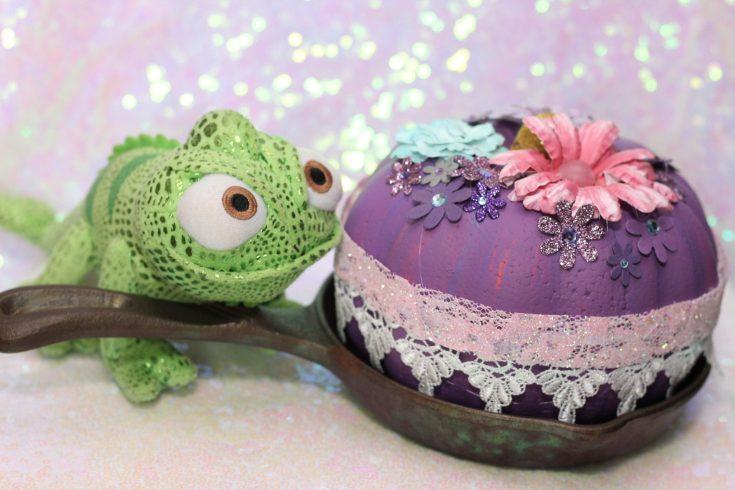 DIY Disney Princess Pumpkins: Tangled Rapunzel Pumpkin Ideas