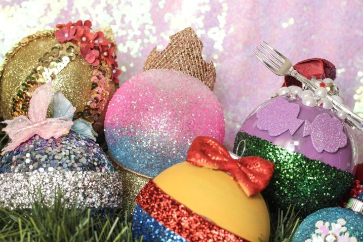 DIY Disney Princess Christmas Ornaments