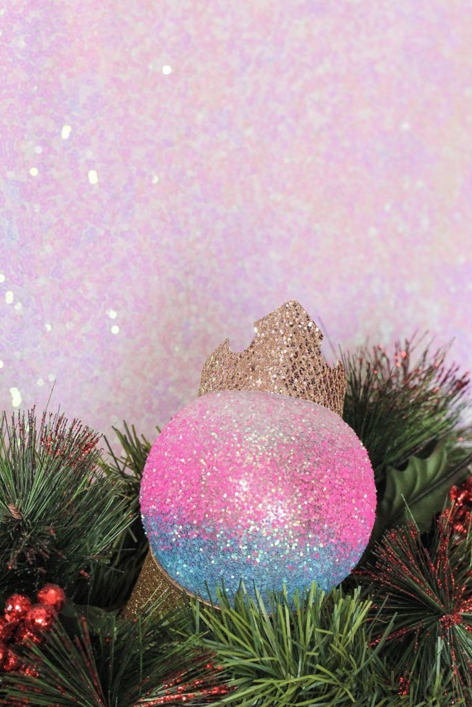DIY Sleeping Beauty Aurora Christmas Ornament