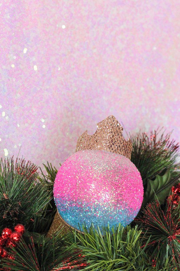 DIY Sleeping Beauty Aurora Christmas Ornament