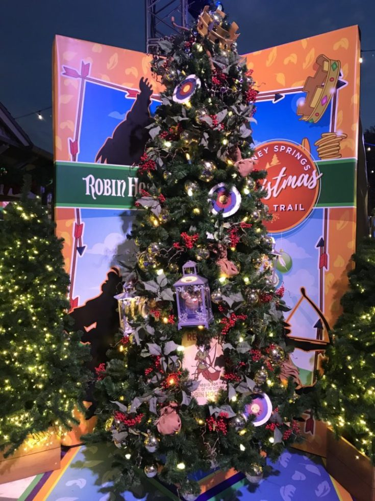 Robin Hood Disney Christmas Tree Trail at Disney Springs