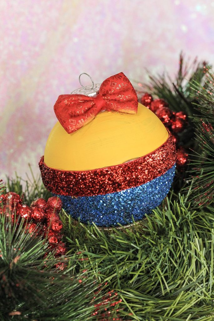 DIY Snow White Christmas Ornament