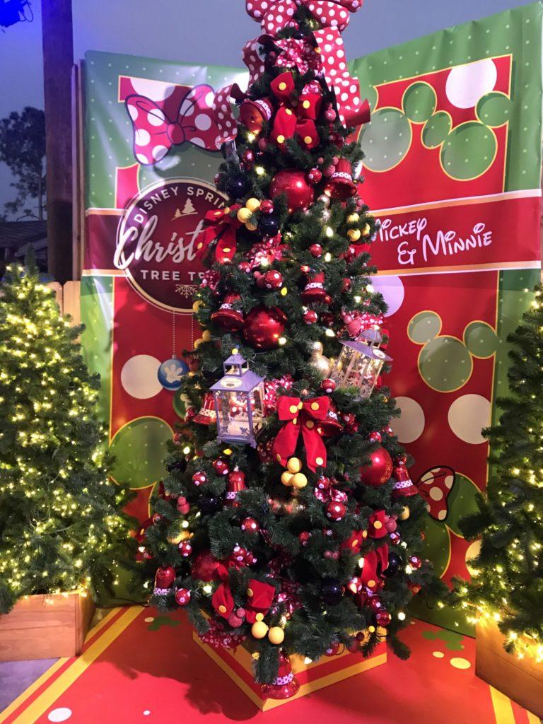 Mickey at Minnie Disney Christmas Tree Trail at Disney Springs