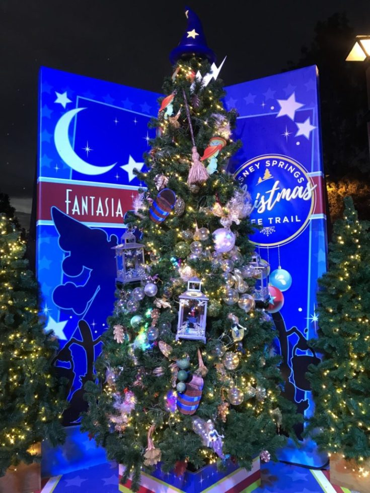 Fantasia Disney Christmas Tree Trail at Disney Springs